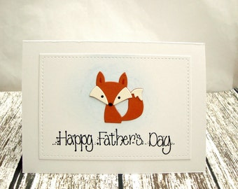 Fox Father's Day Card, Happy Father's Day Card, Father's Day Card with Fox