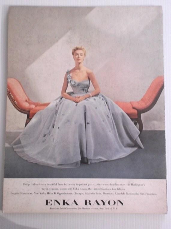 American Fabrics Fashion Magazine 1950 Issues 13-14