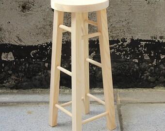 BJD Dolls Wood Furniture Stool - Size H 25cm