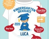 Personalized Kindergarten Graduate Shirt Kindergarten Graduation Shirt Child's Graduation Shirt (05282015f)