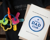 Dad Club - letterpress card & embroidered patch