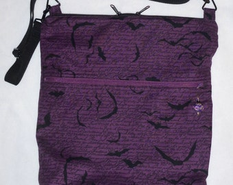 Storytelling Bats Cross Body Purse/bag made to order