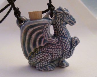 Ceramic Dragon Container Pendant