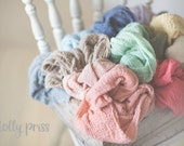 PICK any 7 Newborn Wraps, Baby Wraps Cheesecloth Wraps Photography Prop, Newborn Photo Prop