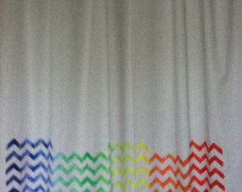 Rainbow Chevron Curtain
