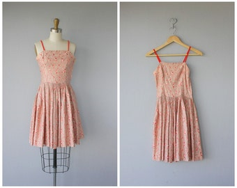 1950s Party Dress | 50s Summer Dress | 50s Sun Dress | 1950s Day Dress