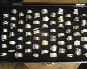 Handcrafted lot of 10 Spoon Ring Silver Plate Stainless Steel cool designs resale Wholesale