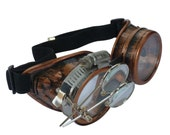 Steampunk Goggles Airship Captain Apocalyptic Mad Scientist Victorian Limited CC C