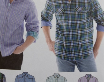 Simplicity 1544 Men's Shirt with Fabric Variations (uncut)
