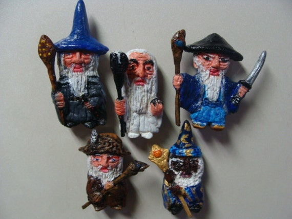 the five wizardsistari refrigerator magnet set full by
