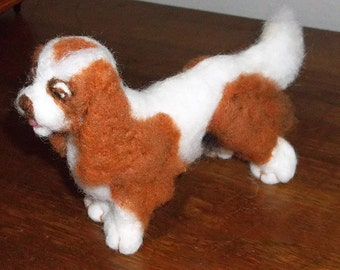 Handcrafted one of a kind Needle felted Cavalier Spaniel
