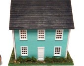 1:144 Dollhouse Miniature Dollhouse 4 Rooms Wood Parts Landscaped Charming Cottage Ready to Furnish