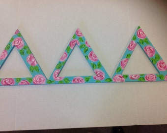 Sorority Letters Tri Delta Greek letters big little