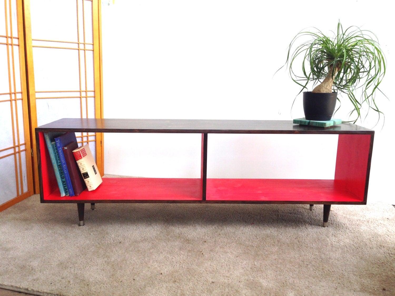 mid century modern record vinyl cabinet media table tv stand. Black Bedroom Furniture Sets. Home Design Ideas