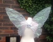 Beautiful OOAK Large Silver cobweb Fairy Wings