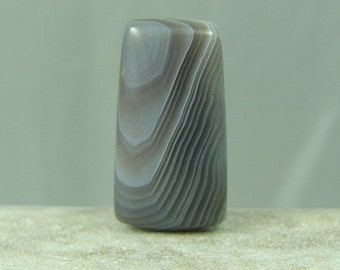 Shades of Grey Botswana Agate Cabochon / 24mm x 12.5mm / 5.5mm  MG07