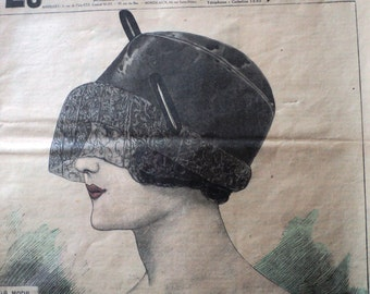 SALE 1923 Le Petit Echo de la Mode French Magazine Womens High Fashion Clothing Accessories Historical Full Magazine 24 pages