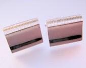 Vintage SHIELDS Silver Tone Cuff Links Mens Jewelry Jewellery