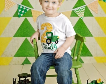Bunting Banner, Photography Prop, John Deere, Nursery Decor, Birthday Decoration, Garland - Kelly Green, Lime Green, Yellow, Chevron, Dots