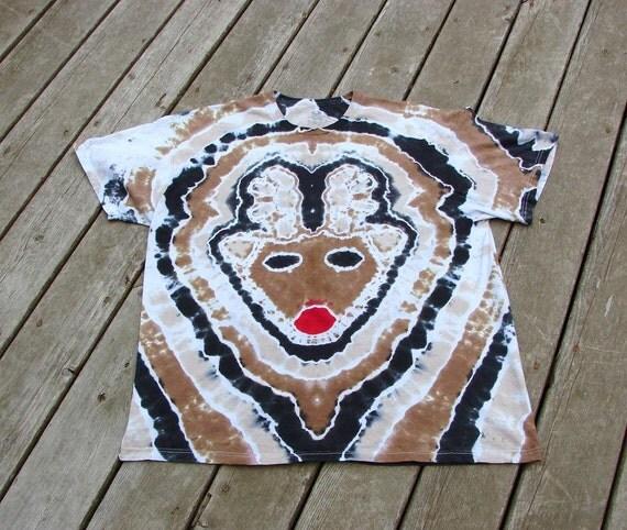 Red Nose Reindeer (2XL) Tie Dye Tee - Tagless Undershirt