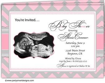 ultrasound invites | etsy, Baby shower invitations