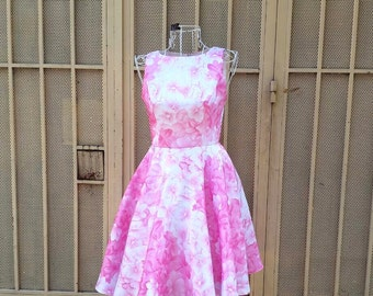 floral summer swing dress custom made all size