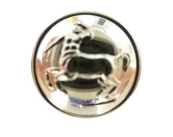 Minotaur Livery Silver Metal Button (00381)*Available in Quantity*