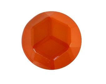 Orange Facet Dome button (no.00398)*Available in Quantity*