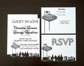 Las Vegas Invitation Wedding Party Special Event A6 Flat Other Cities available