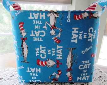 Large Fabric Organizer Dr Seuss The Cat in The Hat Storage basket