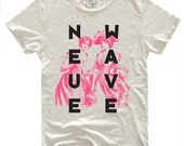 Neue Wave, 100 Percent Cotton T-shirt, Vintage White, unisex