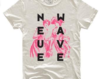 Neue Wave, 100 Percent Cotton T-shirt, Vintage White, unisex