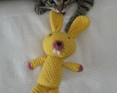 Ultimate Cat Toy Rabbit, Certified ORGANIC Catnip, hand-crochet, high quality cotton in head and belly