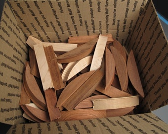 Exotic Wood Scraps, cut offs from the Helical box.