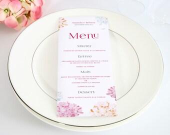 Wedding Menu, Wedding menu card, Printable menu, menu card, printable menu card, party menu, menu printable, wedding set, wedding suite