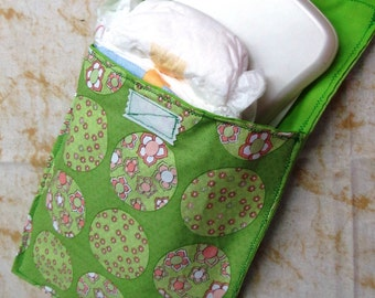 diaper clutch , baby wipes bag, baby and child care, diaper bag, bag accessory, bag organizer, visit new baby gift, boutique spring flowers