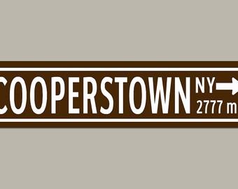 Custom Cooperstown Baseball Road Sign