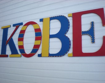 Large Name Letters - Kids Room Letters - Name Wall Letters - Large