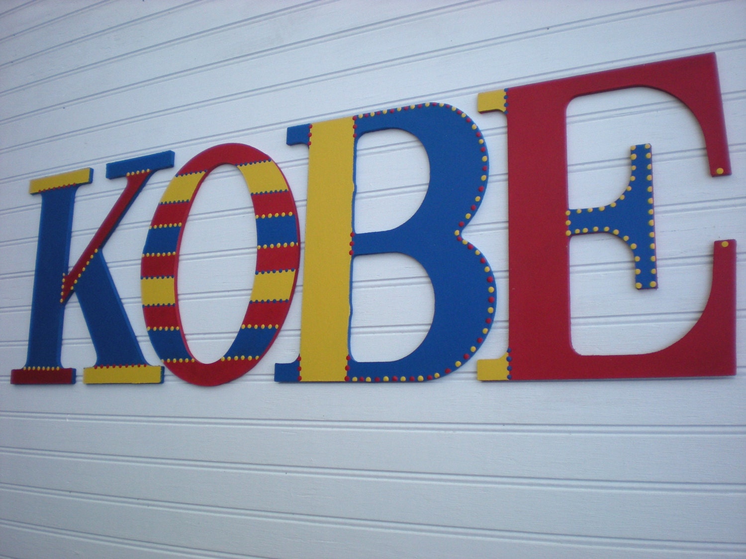 Large name letters kids room letters name wall letters for Kids name letters