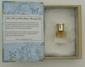 Natural Perfume Oil - 2 ml bottle- gift box, perfume, botanical perfume, organic, floral, musk, incense, amber, rose, jasmine