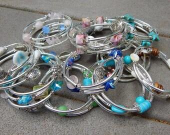 Silver wrap around bracelet