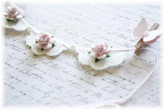 Shabby Chic Banner for Scrapbooking or Cardmaking