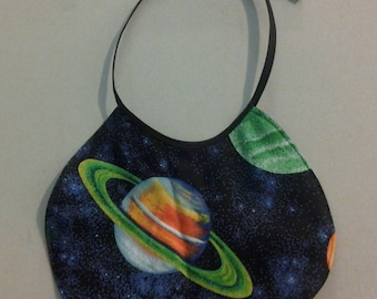 Infant Baby Bib outerspace stars planets saturn earth 243744
