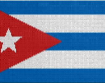 Cuban Flag Cross Stitch Kit