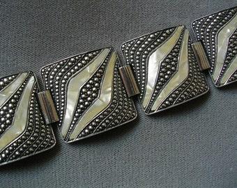 Vintage Eloxal Bracelet Western Germany Art Deco Revival Accessories