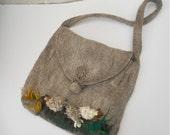 Messenger bag shoulder bag 3Dsheep motif large purse handbag