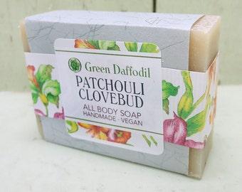 Patchouli Clovebud Bar of Soap - Green Daffodil