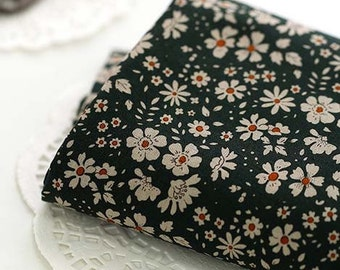 Lovely Daisy on Khaki Cotton Wide 140cm, U245