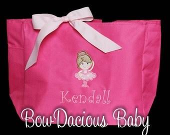 Dance Bag, Ballerina Bag, Custom Dance Bag, Girls Dance Bag, Ballet Bag, Monogrammed Dance Bag, Monogrammed Bag, Birthday Gift, Custom