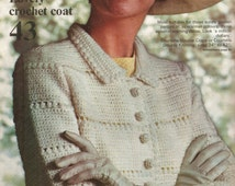 Elegant crochet coat pattern. Instant PDF download!